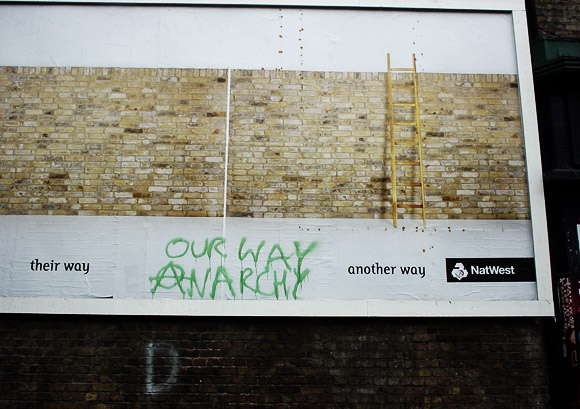 'Our Way Anarchy' - Quality Brixton archive graffiti