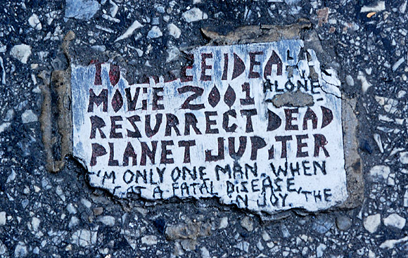 The mystery of the Philadelphia Toynbee Tiles and Planet Jupiter