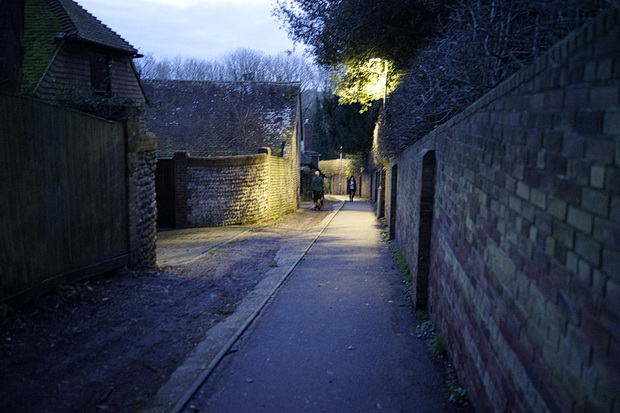 Lewes: architecture, a disused railway line and a fine chippie - in photos, February 2016