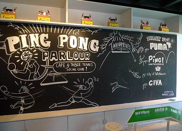 Ping Pong London, 100 tables pop up across London