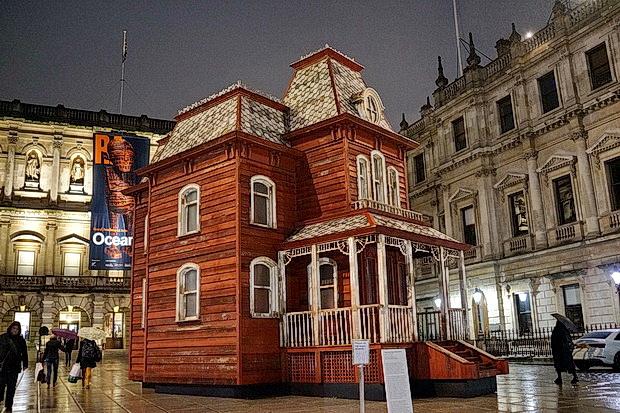 PsychoBarn installation by Cornelia Parker at the Royal Academy, London, November 2018