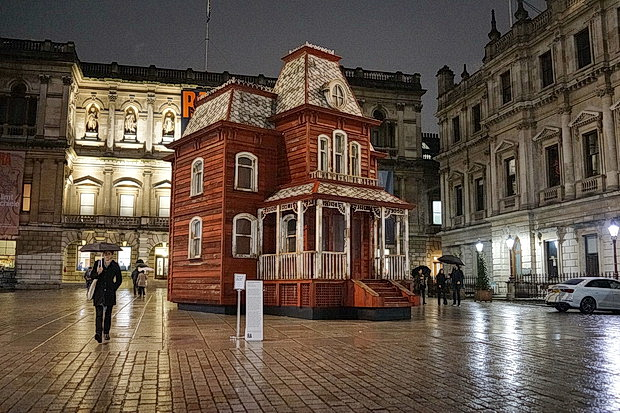 PsychoBarn installation by Cornelia Parker at the Royal Academy, London, November 2018