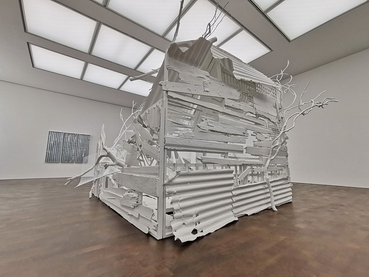 Rachel Whiteread's Internal Objects exhibition at the Gagosian Gallery, central London