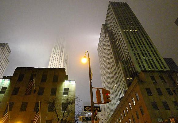 A rainy night in Manhattan, New York