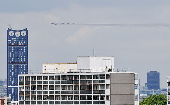 Whoosh! Red Devils flypast over London