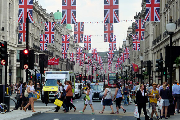 Union Jack bedecked with Union Jacks as the Royal Wedding looms closer