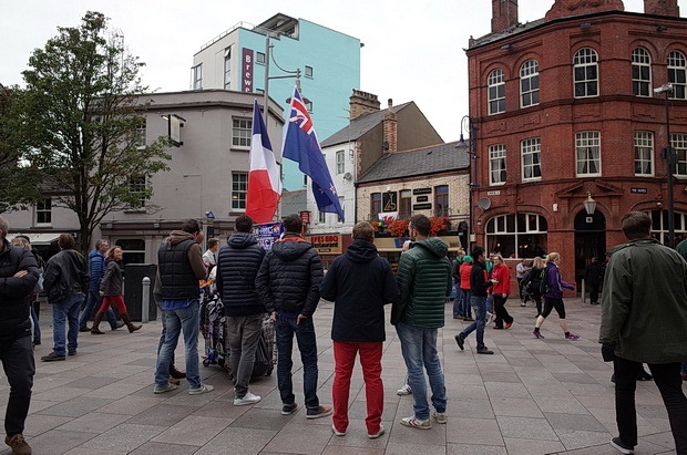 When the flags fly in Cardiff - street scenes from the Rugby World Cup 2015