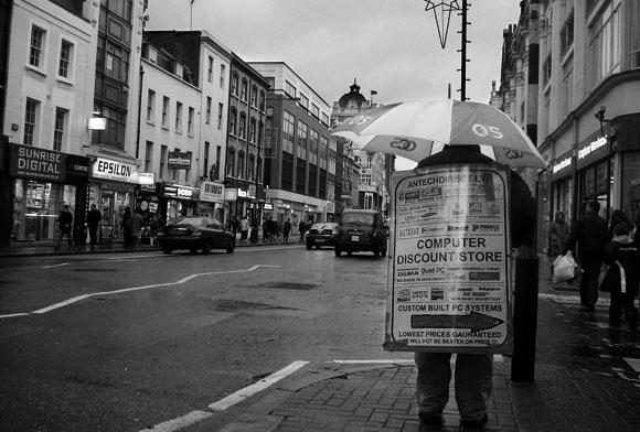 Crap London jobs: the sandwich board man