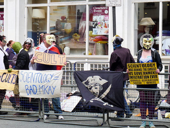 Anti-Scientology protest in central London, 23rd  July 2011