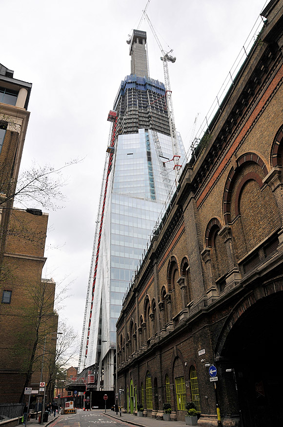 The Shard, London Bridge, nears completion