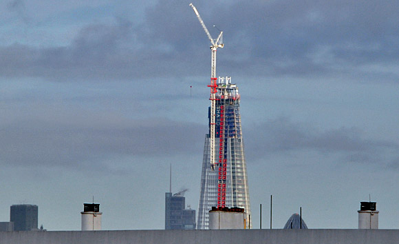 The London Shard inches closer to completion