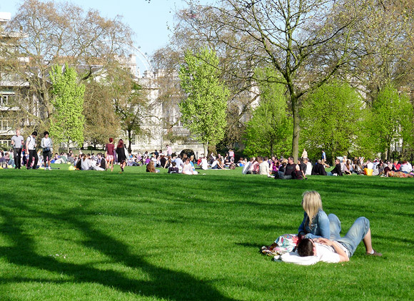 Spring has sprung in Green Park, London