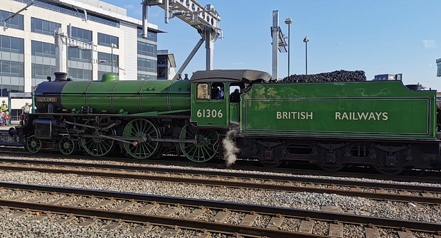 The unexpected joy of finding two steam engines at Cardiff Central station, Thurs 1st Aug 2019