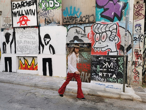 Street art and anarchist graffiti of Exarchia, Athens, Greece