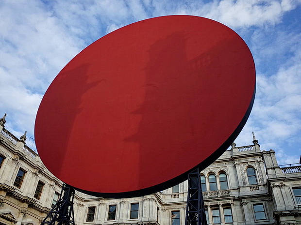 Anish Kapoor's Symphony for a Beloved Daughter in the Royal Academy's Annenberg Court, London, July 2018