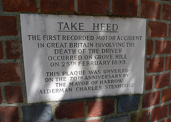 Take heed! Britain's first fatal car accident, Harrow, 1899