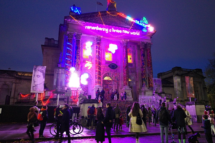 The incredible Tate Britain light installation celebrating Diwali - in photos