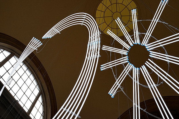 Neon galore at the Tate Britain's new light display by Cerith Wyn Evans