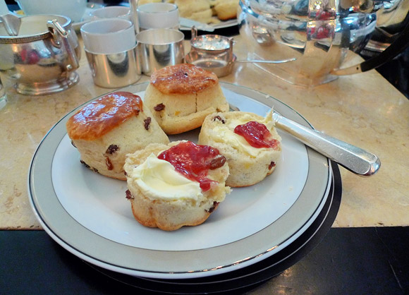 Afternoon tea at The Wolseley, Piccadilly, London