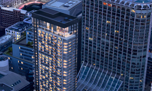 The Heron rises in the City, 36-storeys for the well heeled