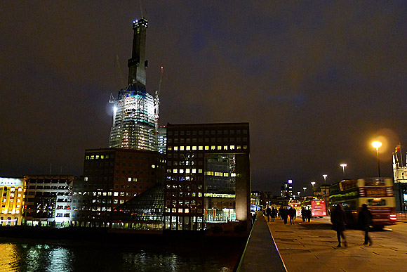 The London Shard at night, Jan 2011