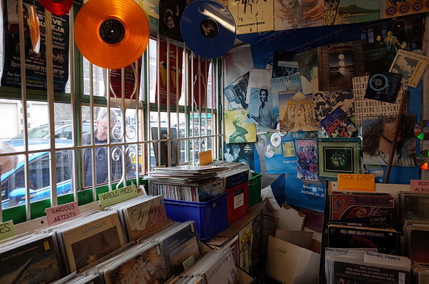 The Record Shop in downtown Roath, Cardiff: a vinyl and CD