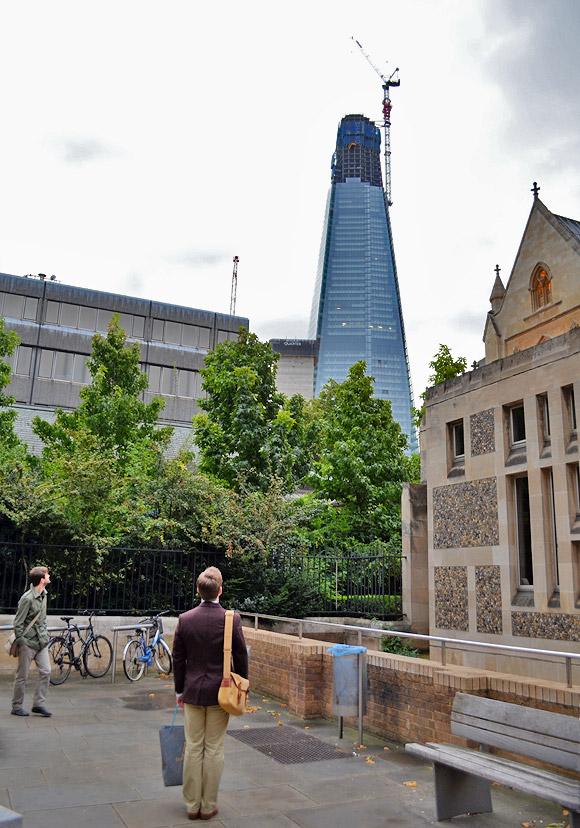 The Shard comes under close scrutiny from London Bridge