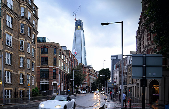 The Shard comes under close scrutiny from London Bridge