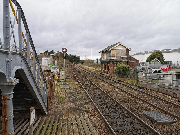 In photos: an unexpected stop at Thetford railway station, as storm-felled trees blocked the route