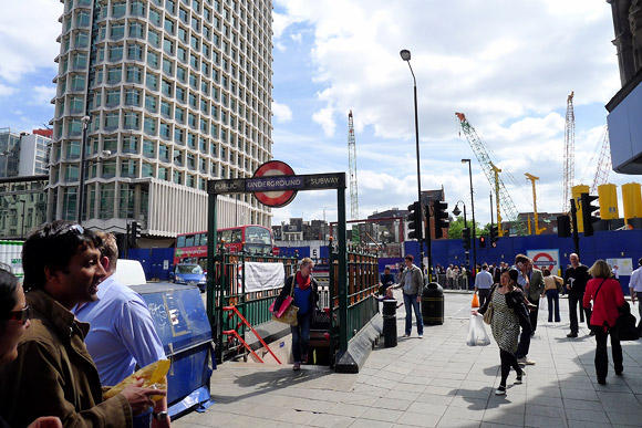 Tottenham Court Road and Crossrail - one almighty building site