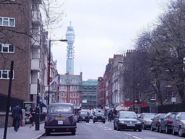 London history - a trip up the BT Tower 15 years ago, March 2004