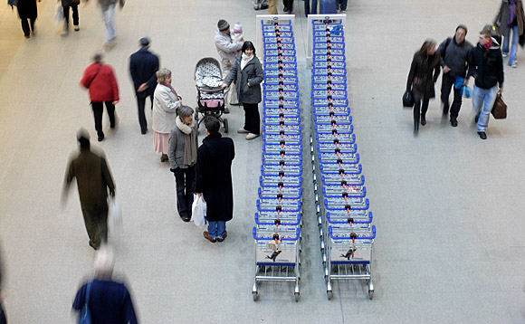 Photo of the day: trolleys, St Pancras station