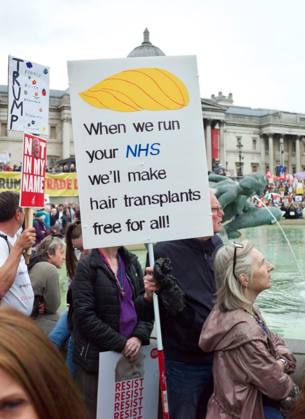 In photos: Donald Trump protests in central London, Tues 4th June 2019