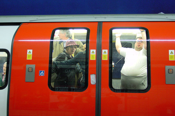 Pic of the day: tube train, Tottenham Court Road