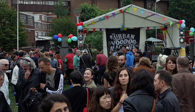 Rock'n'Roll in the streets with the Urban Voodoo Machine at the Clerkenwell Festival 2015