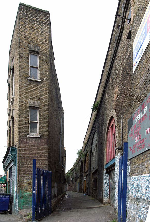 A very thin house, Coldharbour Lane nr Loughborough Junction, SW9