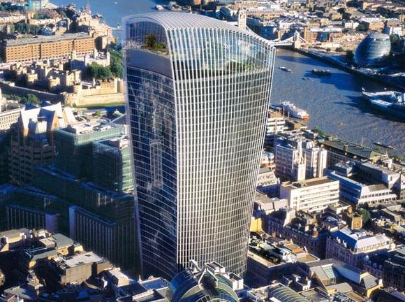 The London Walkie Talkie, Fenchurch St crackles into life