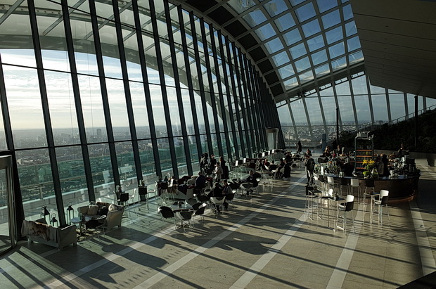 The Sky Garden at the Walkie Talkie tower, 20 Fenchurch Street, London
