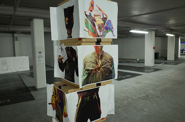 We Could Not Agree art exhibition in Q Park car park, Cavendish Square, London W1, Sunday 19th October 2014