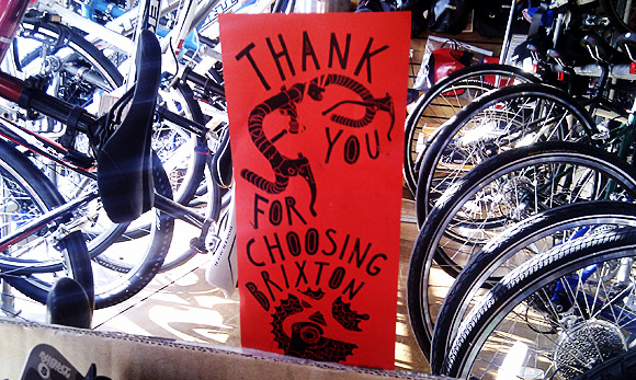 We salute the awesome might of Brixton Cycles!