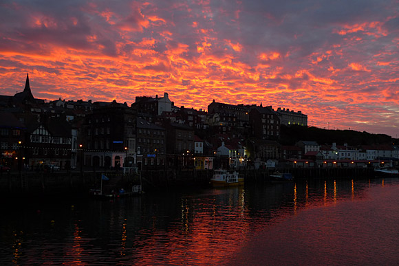 Whitby sunset - astonishingly beautiful
