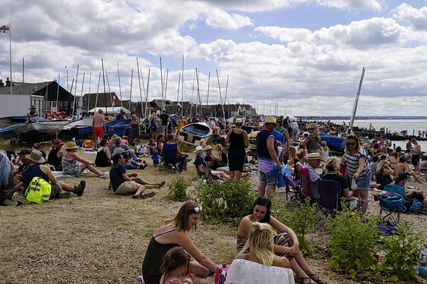 Whitstable photos: beach scenes, singing fisherman and an oyster eating competition
