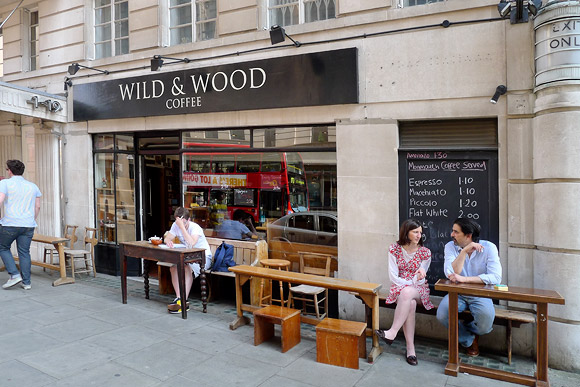 Wild and Wood coffee,  New Oxford Street WC1