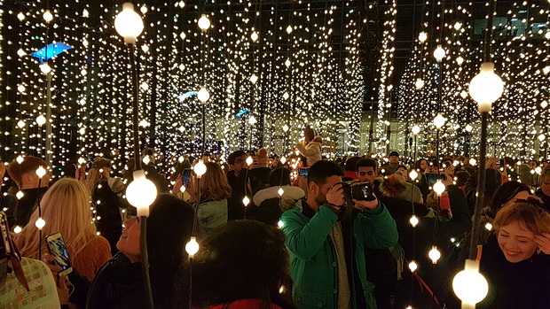 In photos: Winter Lights festival at Canary Wharf, London - Jan 2019