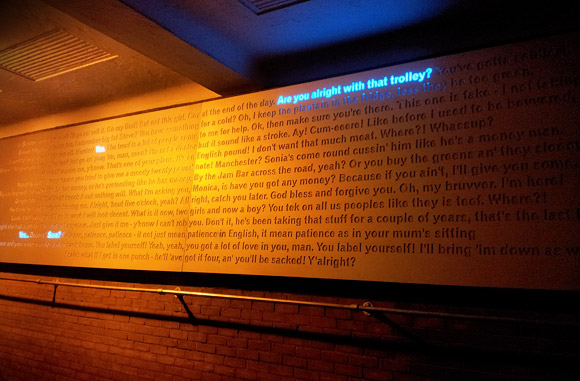Will Self's art piece on Brixton Electric Avenue lights up