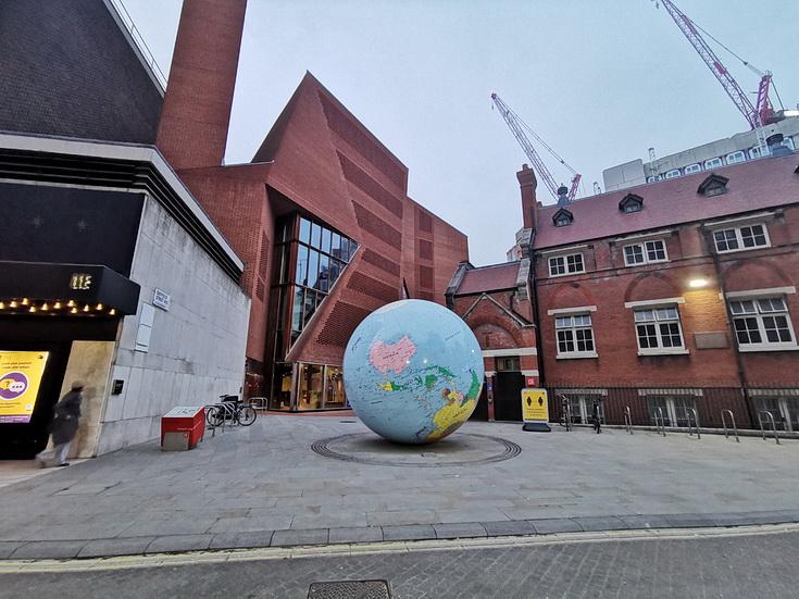 The giant upside down globe in Holborn, London