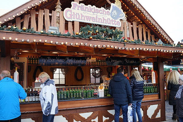 A Big Bavarian Christmas Market: December in Aschaffenburg, Germany, December 2016