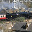 Gleaming in the glorious Brixton sunshine is this excursion train headed up by a BR standard class 7 70000 Britannia locomotive.
