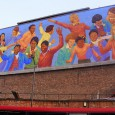It's been a good month forBrixton's murals.Brixton Academy's 1982 mural byStephen Puseywas lucky enough to have gone under a bit of a restoration.