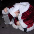 Spotted outside the Hootenanny pub on Effra Road, SW2 was this tragically legless – and headless – Santa.